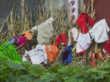China  Guizhou Province  Drying Laundry in the Village