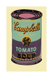 Campbell's Soup Can  1965 (Green and Purple)