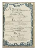""""""" Voyages du roi au château de Choisy """" en 1752 : souper du mercredi  20 septembre 1752"""