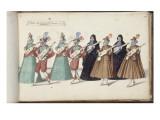 """Album ; Ballet des Fées de la forêt de Saint Germain ; """"Entrée des Espagnols""""; huit figures"""
