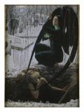 La Mort et le fossoyeur Giclée par Carlos Schwabe