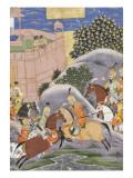 Shahnameh de Ferdowsi ou le Livre des Rois Combat de Bijène contre Firoud