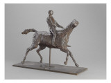 Galloping Horse Turning His Head Right Horse Jockey