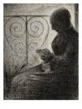 Devant le balcon (profil)