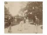 Quatre joueurs de croquet  à Sèvres