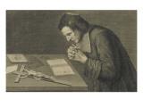 François de Pâris  diacre de Saint-Médard  en prière