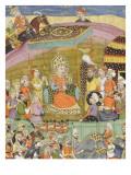 Shahnameh de Ferdowsi ou le Livre des Rois Sohrab regarde la tente de Guivre