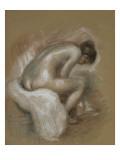 Nu féminin assis, s'essuyant le pied gauche Giclée par Pierre-Auguste Renoir