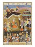 Shahnameh de Ferdowsi ou le Livre des Rois Sohrab regard la tente noire des chefs de l'armée perse