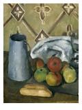 Fruits, serviette et boîte à lait Giclée par Paul Cézanne