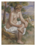 Baigneuse assise dans un paysage  dite Eurydice