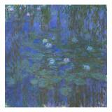 Nymphéas bleus Giclée par Claude Monet