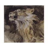 T de lion rugissant