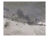 Environs de Honfleur, neige Giclée par Claude Monet