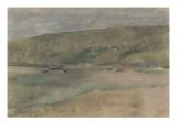 Falaises au bord de la mer : plage de Beuzeval Giclée par Edgar Degas