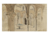 Inner Courtyard of the Monastery of Seville  May 1832