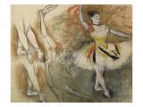 Feuille d'étude : danseuse au tambourin ou Danseuse espagnole