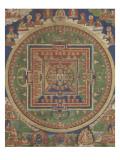 Mandala de Vairocana, sous son aspect Sarvavid Giclée