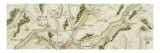 Plan de la route de Paris à Huningue par Troyes et Belfort Giclée