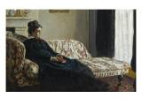 Méditation Madame Monet au canapé  Camille Doncieux (1847-1879)  première femme de l'artiste