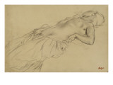 Femme nue  étendue sur le dos