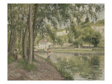 Moret  le canal du Loing (Seine et Marne) ou Chemin de halage à Saint Mammès
