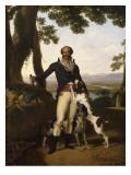 Portrait d'un chasseur avec ses chiens dans un paysage  dit Portrait d'Alexandre Dumas père