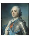 Portrait de Louis XV Le Bien-Aimé (1710-1774) en armure