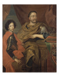 Portrait de Jean III Sobieski  roi de Pologne et d'un de ses fils  Jacques-Louis (1629-1696)