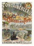 """Affiche """"Fontainebleau, son Château et sa Forêt"""" Giclée"""