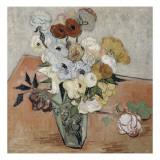 Roses et anémones