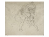 Etude pour la lutte de Jacob et de l'ange Giclée par Eugene Delacroix