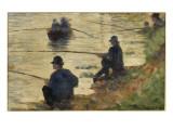 Les pêcheurs à la ligne  étude pour le Grande Jatte