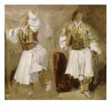 Deux études de costumes souliotes Giclée par Eugene Delacroix
