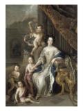 La marquise de Montespan entourée de ses quatre premiers enfants légitimés  en 1677