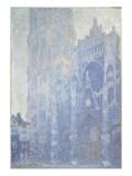 La cathédrale de Rouen Le portail et la tour Saint-Romain  effet du matin