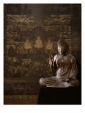 Le Taima Mandala (à l'arrière plan) ; L'Amida Nyorai (au premier plan) Giclée