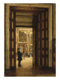 La Salle des Sept-Cheminées au Louvre  vue depuis la salle des Bijoux