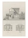 Villa à Neuilly-sur-Seine de MLabrouste : coupe transversale  plans de rez