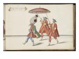 """Album ; Ballet de Douairière de Billebahaut ; """" Seconde entrée du Grand Seigneur """"; trois figures"""