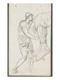 Carnet de dessins : Jambe d'homme portant une chaussure décorées d'ornements