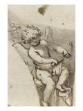 Suzanne au bain ; L'amour bandant son arc ; Sainte Catherine agenouillée  regardant le ciel
