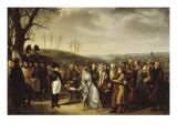 Napoléon Ier accueillant les familles polonaises qui viennent se mettre sous sa protection et