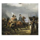 Napoléon Ier passant devant les troupes à la bataille d'Iena  14 octobre 1806 (bataille contre