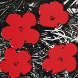 Flowers (Red), c.1964 Reproduction d'art par Andy Warhol