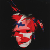 Self-Portrait  c1986 (red  white and blue camo)