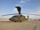 A UH-60 Black Hawk Helicopter at Camp Speicher  Iraq