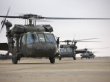 UH-60 Black Hawks Taxis Out for a Mission over Northern Iraq