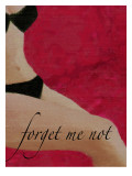 Vintage Pin-Up Forget Me Not