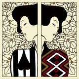 Silhouette I et II, vers 1912 Reproduction d'art par Gustav Klimt